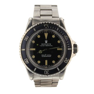 Rolex Submariner Vintage Steel 40 mm Automatic Black Watch 5513 Circa 1971
