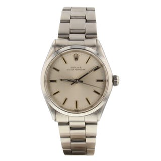 Rolex Oyster Perpetual 34 mm Steel Automatic Silver Watch 5552 Circa 1969