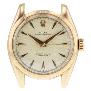Rolex Oyster Perpetual Honey Comb 6085 Vintage Mens Watch