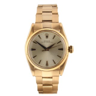 Rolex Oyster Perpetual 18K Rose Gold Automatic 31 mm Watch 6551 Circa 1965
