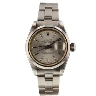 Rolex Oyster Perpetual Date 26 mm Steel Automatic Ladies Watch 69160 Circa 1984