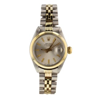 Rolex Oyster Perpetual Ladies Date Two Tone 26 mm Jubilee Watch 6917 Circa 1973