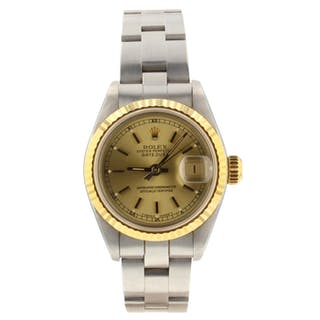 Rolex Ladies Datejust Automatic 26 mm Oyster Watch 69173 Circa 1989 L Series