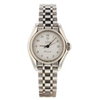 Tudor Monarch Prince Date Steel Quartz 26 mm White Dial Ladies Watch 15830