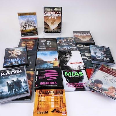 PARTI Diverse DVD filmer & ljudböcker.
