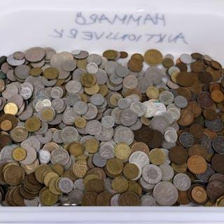 PARTI diverse utländska mynt.