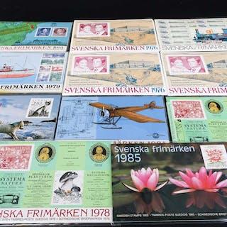 ÅTSSATSER 11 st med svenska frimärken.