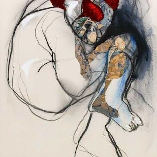 """STIG OLSON """"Klown"""" collage/opd"""