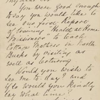 "Nightingale (Florence) Autograph Letter signed to Dr Ord, 1893, ""You"