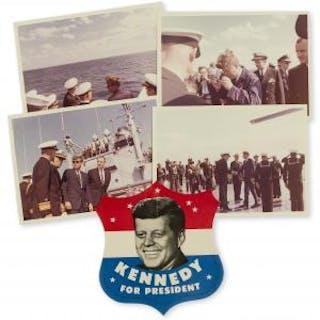Kennedy (John F.).- Stoughton (Cecil) Group of 4 original photographs