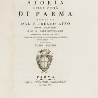 Parma.- Affo (Ireneo) Storia della città di Parma, Parma, Carmignani