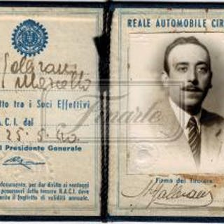 Lot composed of Gallerani Marcello car's registration documents and