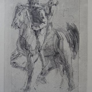 Auguste RODIN (after) - Dante and Pegasus, 1897, Engraving