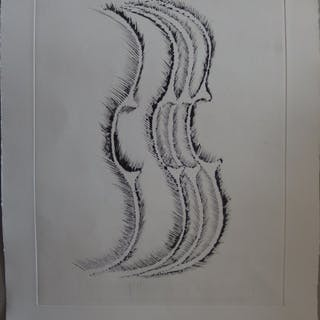 "ARMAN ""Violin profile"" 1979 Original drypoint etching"