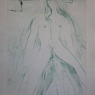Salvador DALI : Femme à cheval sur un homme - Gravure originale signée