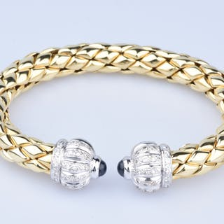 CHIMENTO Bangle Bracelet in 18k Yellow and White Gold (750/1000) 2