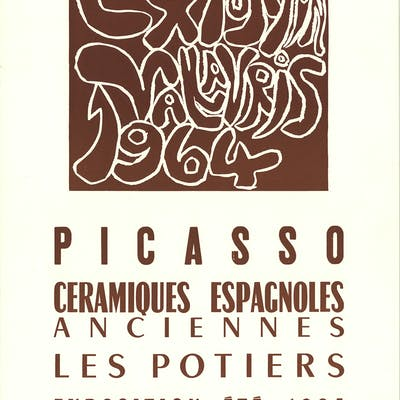 """""""Spanish Ceramics"""" by Pablo Picasso, 1964 Unsigned"""
