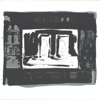 """""""Ale Cans"""" by Jasper Johns, 1975 Signed"""