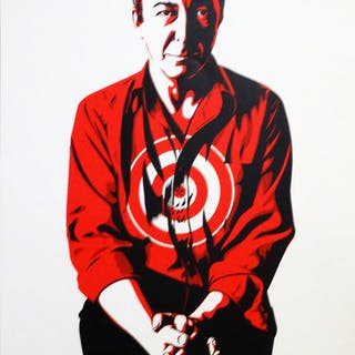 Shepard Fairey (Obey) - Jasper Johns, 2001, edition, work signed by hand