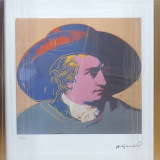 ANDY WARHOL 'Man in hat'