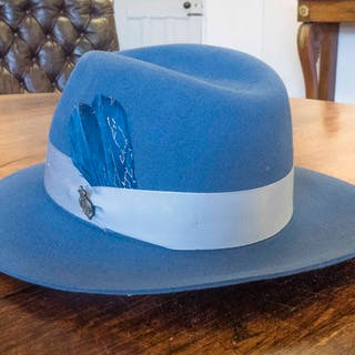 CHRISTY'S LONDON CHESTER TATTON FEDORA HAT