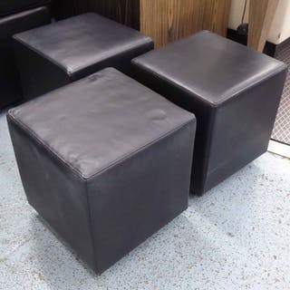 STOOLS, a set of three, 46cm H. (3)