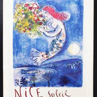 MARC CHAGALL 'Nice Soleil Fleurs'