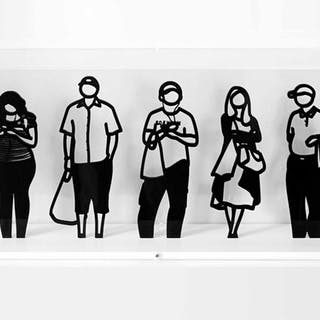 JULIAN OPIE 'The complete set of seven standing figures'