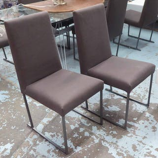 B&B ITALIA WITH MAXALTO SOLO DINING CHAIRS