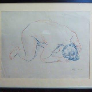 ULI NIMPTSCH (1897-1977) 'Crouched nude'