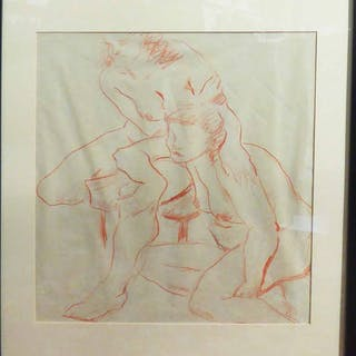 ULI NIMPTSCH (1897-1977) 'Two nudes'