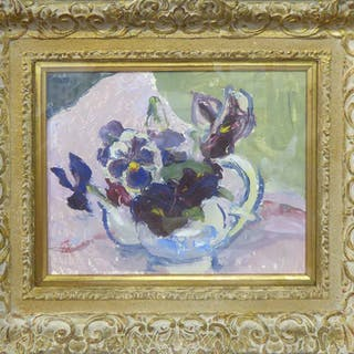 MARGARET THOMAS NEAC (British 1916-2016) 'Pansies'