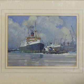 ROY GLANVILLE RBA RSMA (1911-1963) 'Preparation for Departure from
