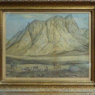 J. ELIZA GREATOREX (Irish-born American 1819-1897) 'Arab Encampment