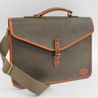 MULBERRY VINTAGE BRIEFCASE/MESSENGER BAG
