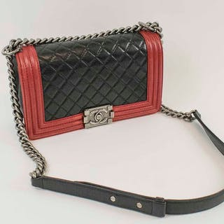 CHANEL BICOLOUR MEDIUM BOY BAG