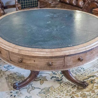 LIBRARY DRUM TABLE
