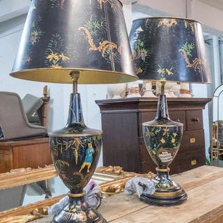 TOLEWARE STYLE TABLE LAMPS