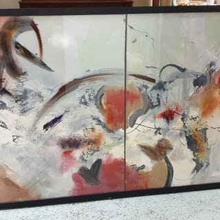 CONTEMPORARY SCHOOL 'Abstract' acrylic on canvas