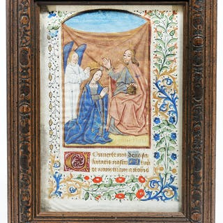 Illuminated Manuscript: Coronation of the Virgin Mary - Illuminated Manuscript.