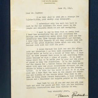TYPED LETTER SIGNED - ROOSEVELT, ELEANOR.