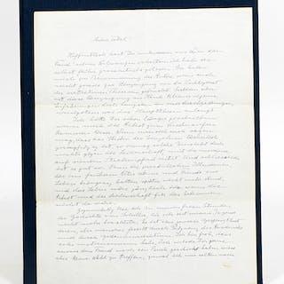 Autograph Letter Signed - EINSTEIN, ALBERT.