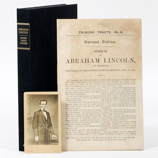 Speech of Abraham Lincoln of Illinois, Delivered at the Cooper Institute