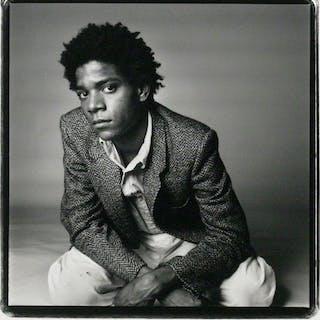 Vintage Silver Gelatin Photograph of Jean-Michel Basquiat - BASQUIAT