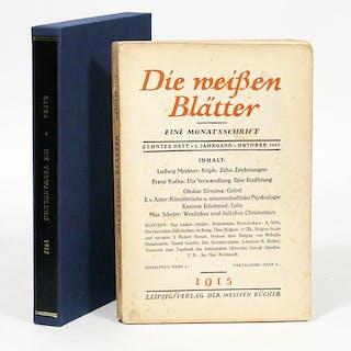 Die Verwandlung [The Metamorphosis]; In: Die Weissen Blätter - KAFKA, FRANZ.