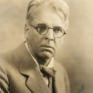 Photograph Signed - YEATS, WILLIAM BUTLER. [VOS, MARTIN].