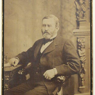 Large Albumen Photograph - GRANT, ULYSSES S.