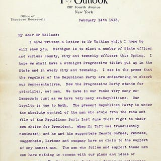 Typed Letter Signed - ROOSEVELT, THEODORE.