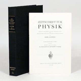 Zur Quantentheorie aperiodischer Vorgänge - BORN, MAX; JORDAN, PASCUAL.