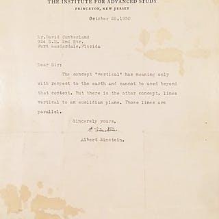 Typed Letter Signed - EINSTEIN, ALBERT.